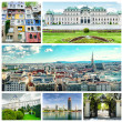Collage of Vienna — Foto de Stock