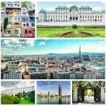 Collage of Vienna — Stock Photo
