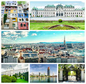 Collage of Vienna — Stock Photo