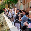 Visitors at Prince's Palace of Monaco — Stock Photo