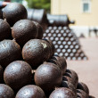 Cannonballs close-up — Stock Photo