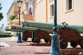 Cannons close-up near Prince's Palace of Monaco — Stock Photo