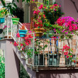 Flowers on balcony — Stock Photo