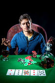 Poker player — Foto Stock