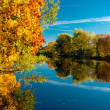 Picturesque autumn landscape. Riga, Latvia — Stock Photo