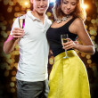Couple drinking champagne — Stock Photo #33743747