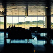 Panoramic view of Ibiza airport lounge, Spain — Stock Photo #33956441