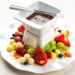 Chocolate fondue — Stock Photo #34118729
