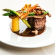 Stock Photo: Fillet mignon with vegetables
