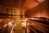 All'interno della moderna sauna finlandese — Foto Stock