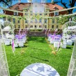 Wedding ceremony at Manor house in Malpils, Latvia — Stock Photo