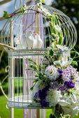 Beautiful wedding decoration — Stock Photo