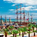 View of Alanya Cruise Port, Turkey — Stock Photo
