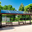 Eco-friendly solar bus stop — Stock Photo
