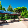 Stock Photo: Eco-friendly solar bus stop
