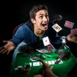 Poker player winning — Stockfoto