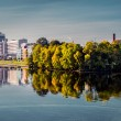 Embankment of the Riga city — Stock Photo