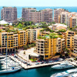 View of Fontvieille, Monaco — Stock Photo