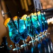Stock Photo: Blue lagoon cocktails