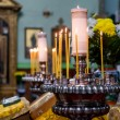 Prayer candles in a church — Stockfoto
