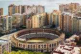 View of bullring, located in the heart of the Malaga city. Spain — Stock Photo