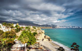 Calahonda beach, located in the centre of Nerja town. Spain — Stock Photo