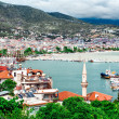 View from the old fortress to Alanya port. Turkey — Stock Photo #40706523