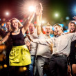 Cheerful group of young people dancing at party — Stock Photo #40707529