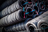 Row of tires — Stock Photo
