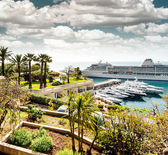 Monte Carlo harbor — Stock Photo