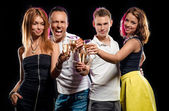 Group of people with glasses of champagne — Stock Photo