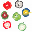 Apple stamps — Stock Photo #40713039