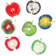 Apple stamps — Stock Photo