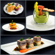 Stock Photo: Collage of healthy starters and main courses