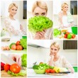 Collage of cooking concept — Stock Photo