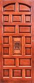 古代的棕色木门 — 图库照片