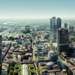 Panoramic view of Frankfurt am Main city, Germany — Stock Photo