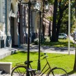 Bicycle in the centre of Riga, the capital of Latvia — Stock Photo