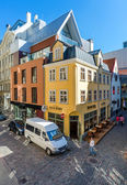 Riharda Vagnera street, heart of Old Riga — Stock Photo