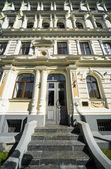Facade of Art Nouveau building — Stock Photo