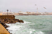 Cadiz quay in stormy weather — Stock Photo