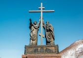 The monument of the holy apostles Peter and Paul — Stock Photo