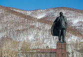Vladimir Lenin statue monument — Stock Photo