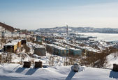 View of heat and power plant in Petropavlovsk-Kamchatsky — Stock Photo