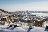 Vista di calore e impianto di alimentazione a petropavlovsk-kamchatsky — Foto Stock