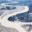 Siberian river. View from the top — Stock Photo #43563089