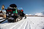 Snowmobile. Kamchatka, Far East, Russia — Stock Photo