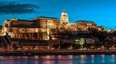 Royal Palace or Buda Castle at evening. Budapest, Hungary — Stock Photo