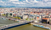 View of Pest, eastern part of Budapest. Hungary — Stock Photo