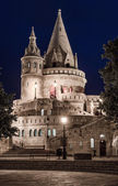Fisherman's Bastion at night. Budapest, Hungary — Stock Photo